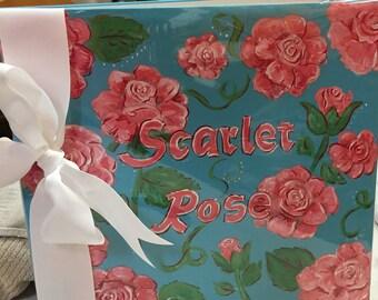 Rosebud Baby Memory Book | Roses Baby Keepsake Book