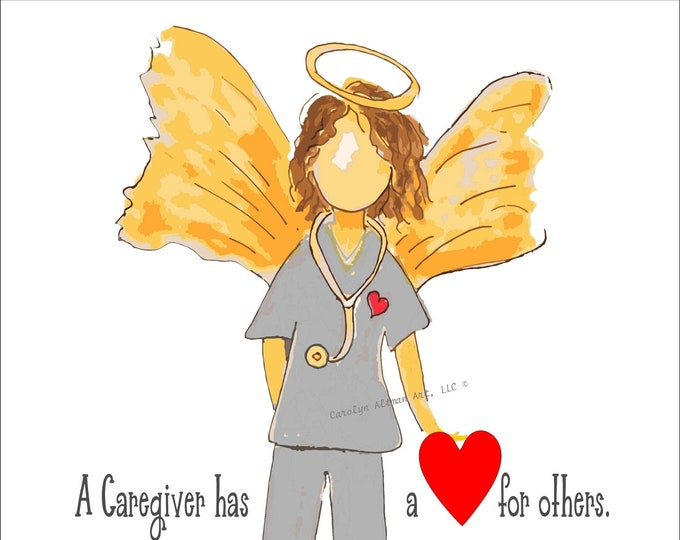 Caregiver Angel Note Cards and Angel Art Prints