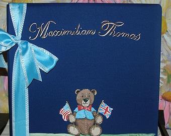 Patriotic Teddy Bear Baby Memory Book