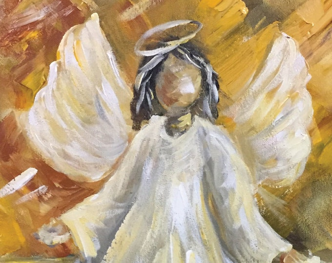 Angel at the Tomb Art Prints | Art Print from an Easter Morning Sunrise  Painting of Angel at the Tomb | Carolyn Altman Art