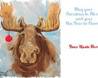 Merry Mystic Moose Christmas Cards  Package of 20