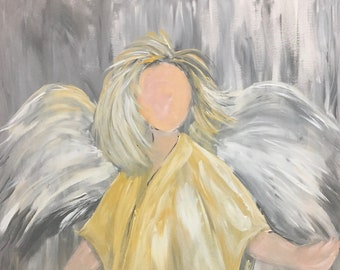 Brush of Angel Wings Note Cards and Art Prints | Original painting is sold. Carolyn Altman Artist