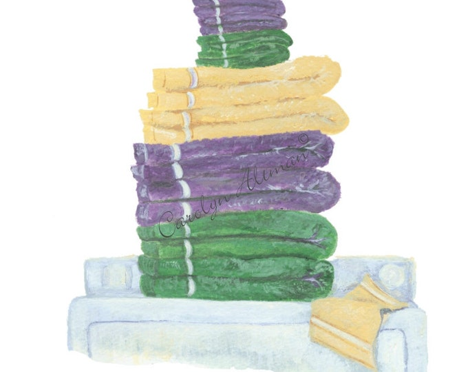 Fluff and Fold a laundry room art print  8x10 by Carolyn Altman