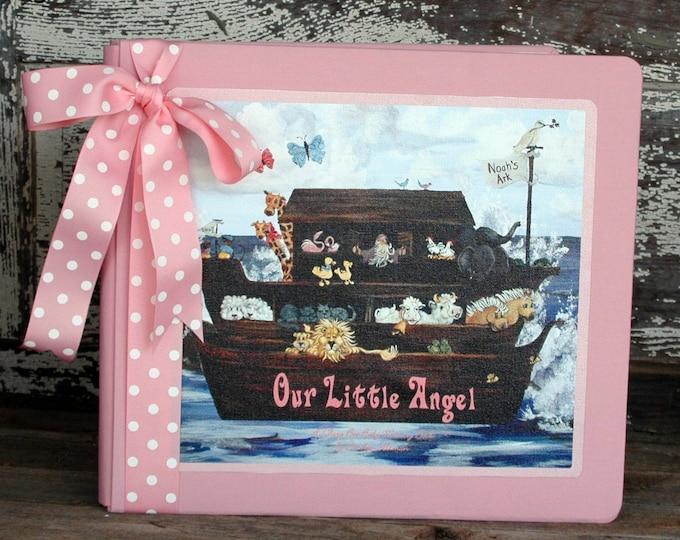 Noah's Ark Baby Memory Book - The Original Love Boat | Noah's Ark Baby Keepsake Book | Noah's Ark Baby Book in Pink or Blue