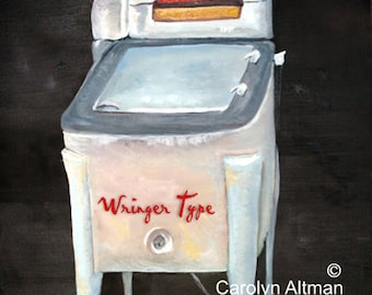Wringer Type Washer Laundry Room Art Print