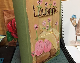 Hand Painted and Personalized Photo Album