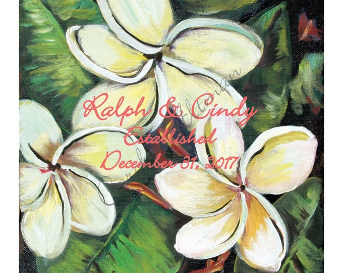 Tropical Flowers Wedding BookTropical Flowers Wedding Book