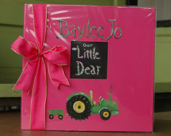 Little Farm Girl Baby Memory Book