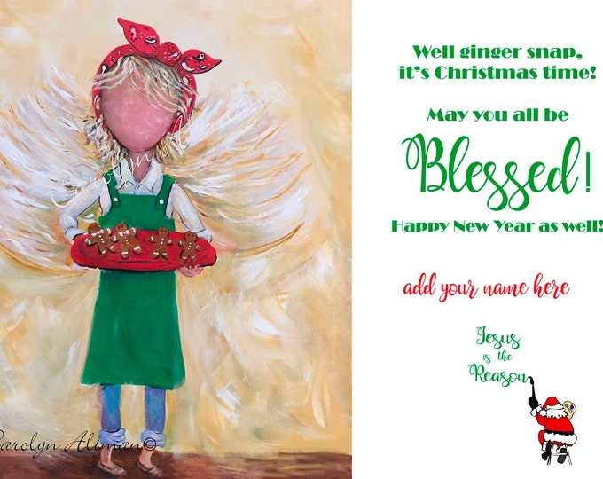 Christmas Cookie Angel Christmas Cards |  Package of 20 or Package of 40 Cards