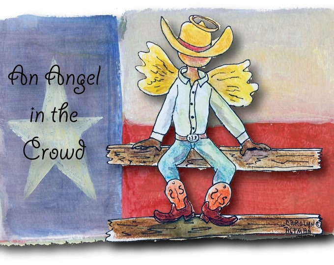 An Angel in the Crowd | Angel Note Cards | Cowboy Angel Note Cards | 10 Pack