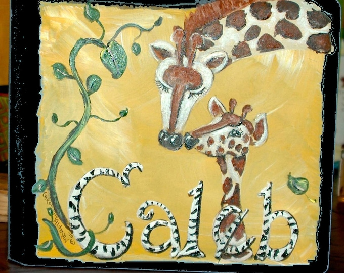 Zoo Animals Baby Memory Book with Giraffe Cover