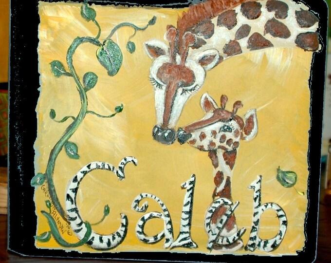 Giraffe Baby Memory Book | Giraffe Scrapbook Book