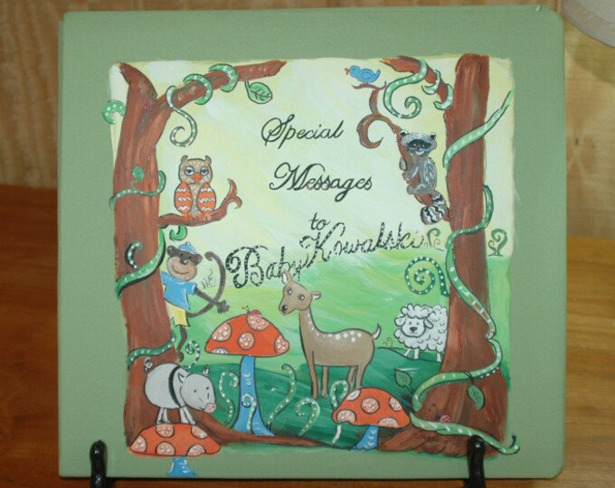 Enchanted Forest Baby Memory Book
