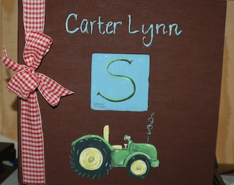Little Farmer Baby Memory Book with Brown Cover