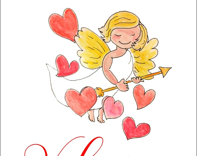 To My Valentine Cupid Greeting Card | 5x7 inch Cupid Valentine