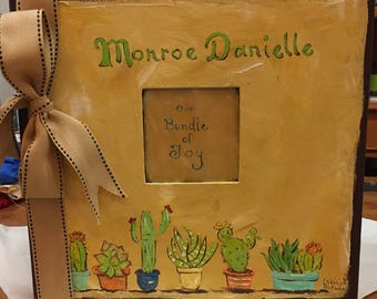 Our Little Bundle of Joy Baby Memory Book | A Cactus Theme Baby Memory Book