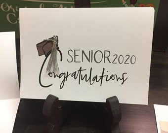 Graduation Greeting Card | Congratulations Senior 2020 | Be Strong and Courageous | Live Love and Reach for the Stars Message..