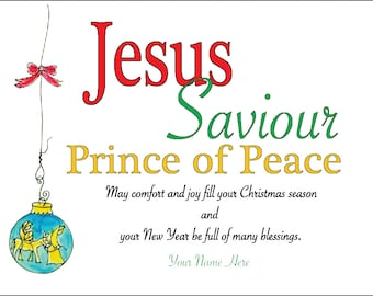 Jesus Saviour Prince of Peace Christmas Cards Package of 20