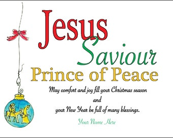 Jesus Saviour Prince of Peace Christmas Cards Package of 20