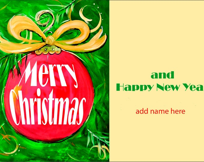 Merry Christmas Ornament Design Christmas Cards |  Package of 20 or Package of 40 Cards