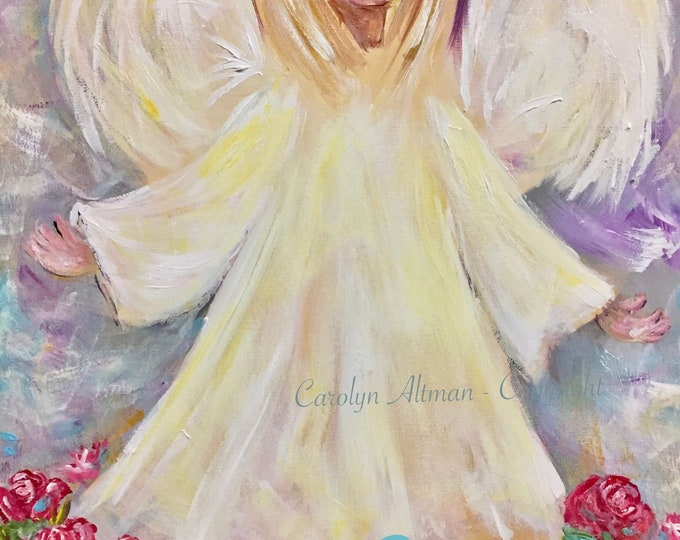 Brotherly Love Angel Painting   Note CardsBrotherly Love Angel Painting   Note Cards