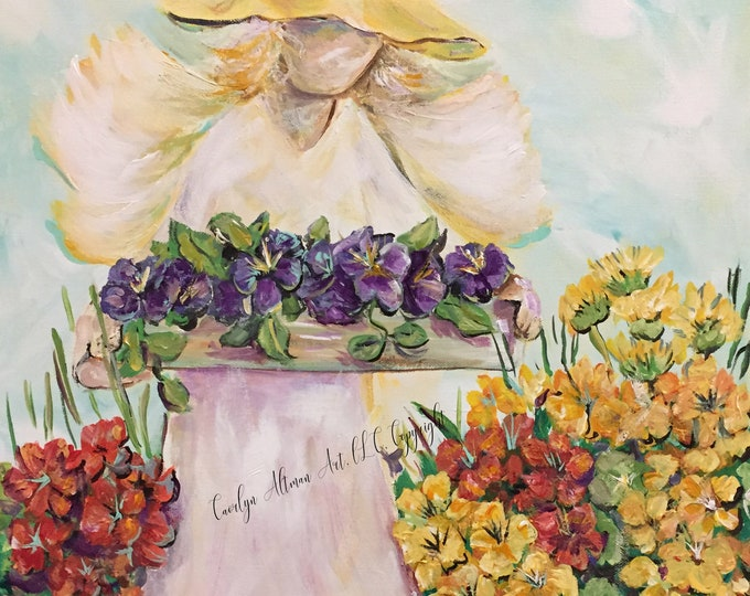 Garden Angel Note Cards | Angel Art Prints | Carolyn Altman Art
