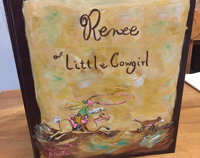 Little Cowgirl Calf Roper Baby Memory Book