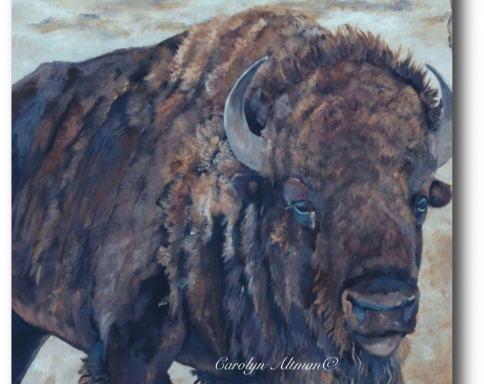 Art Print - Buffalo at Medicine Mounds.....canvas art prints