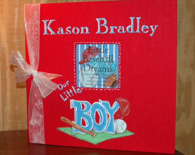 Baseball Keepsake Book | Little Baseball Dreams Baby Memory Book