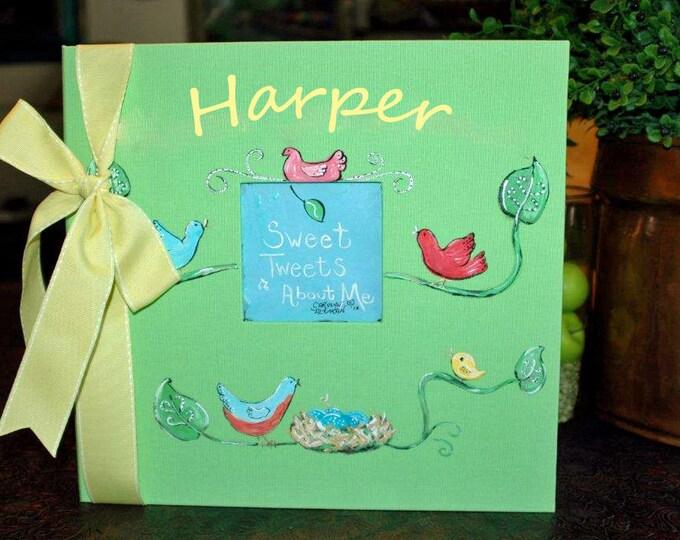 Little Birdies Baby Memory Book 12x12 Size