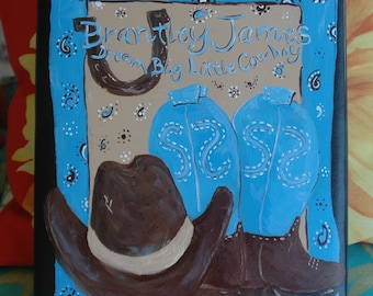 Dream Big Little Cowboy Baby Memory Book