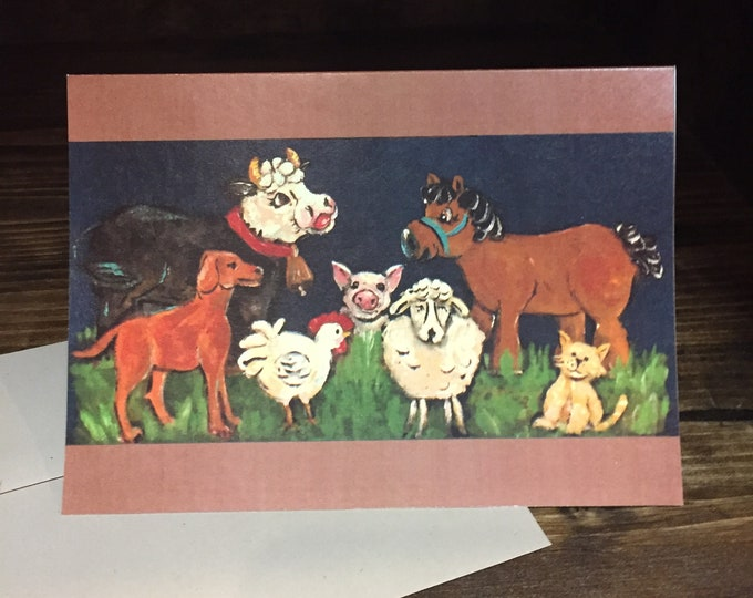 Thank You Barnyard Animals Thank You Card | Great for Stock Show Thank You Cards