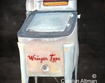 Wringer Type Washer Laundry Room Art Print