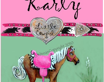 Personalized Palomino with Heart Shape Buckle Poster