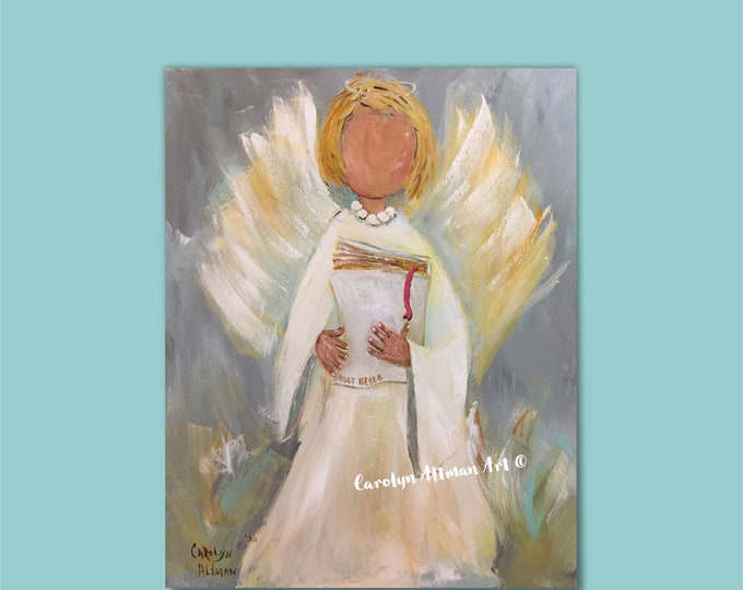 A Mother's Love Angel Painting Mother's Day Cards, Note Cards, andArt Prints | Original by Carolyn Altman, Artist | Painted in 2020
