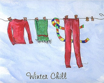 Winter Chill, one in a series of 4 Seasons Art Prints