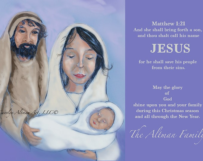 Baby Jesus Christmas Cards Package of 20