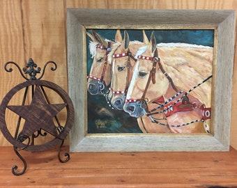 Santa Rosa Palomino Horse Painting | Beautiful Palomino Horses