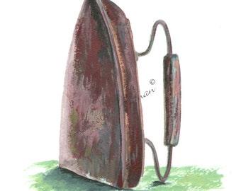 The Iron, a Pressing Item Art Print  8x10