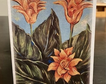 """Lily Flower Note Cards 