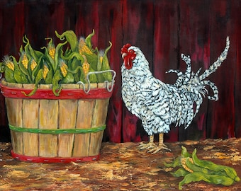 Bushel and a Peck my Chicken and Corn print