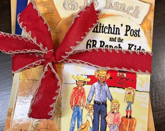Three Book Series of Hitchin' Post and the 6B Ranch Adventures  -  Carolyn Altman, Illustrator | A Ranch Story | Julie Barker, Author