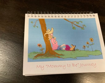Mommy to Be Note Pad Doodle Book, Personalize the Cover, Spiral Bound, Blank Pages for Pregnancy Notes