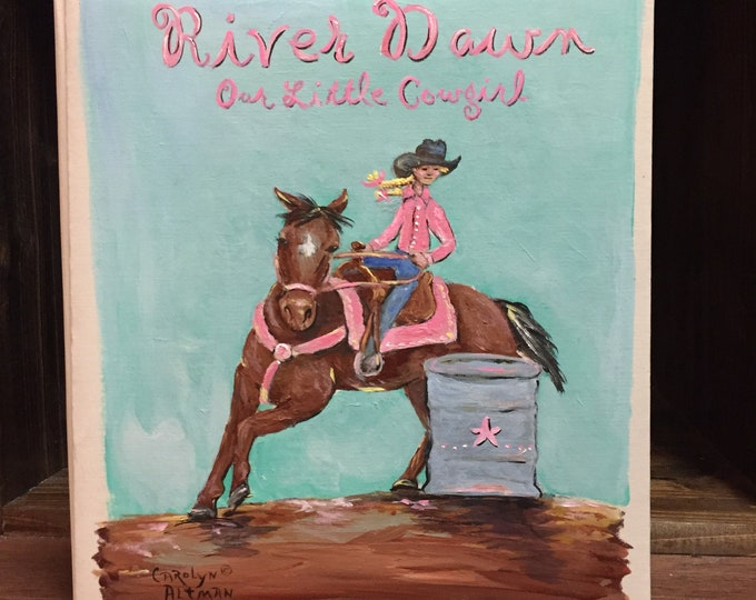 Little Barrel Racer Baby Memory Book