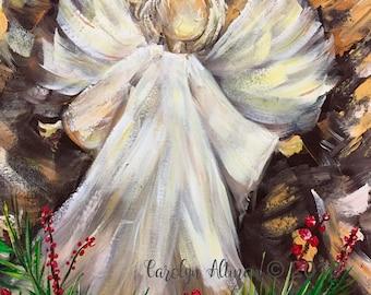 Angel a top the Christmas Tree