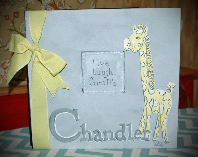Live, Laugh...Giraffe Baby Memory Book