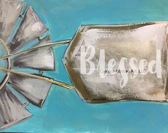 Blessed Windmill Art Print | Carolyn Altman Artist