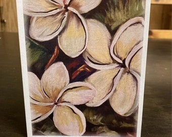 """Magnolia Flower Note Cards 