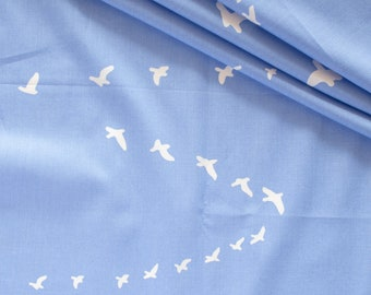 Flight Cornflower Blue Organic Cotton Poplin