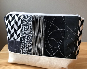 Black and White Patchwork Bag